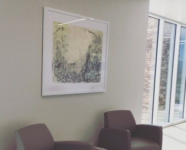 "Original drawing, ""Still"", on permanent display at Rio Bravo Medical Center."